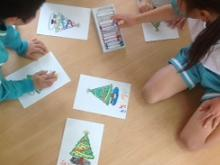 X'mas coloring time in Momo